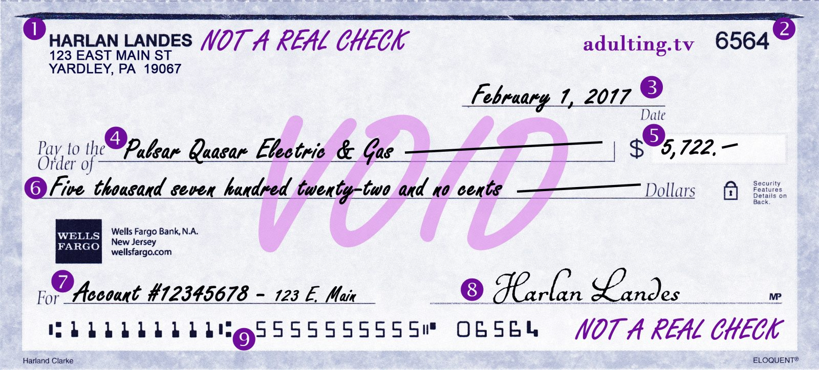 the art of writing a check