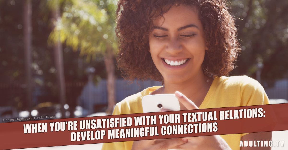 No More Textual Relations: Develop Meaningful Connections